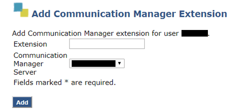 Add Communication Manager Extension