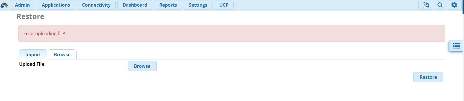 FreePBX 13: Как решить ошибку при загрузке Backup файла
