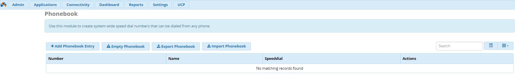 телефонная книга в FreePBX 13