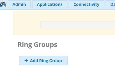 Добавить Ring Group FreePBX13