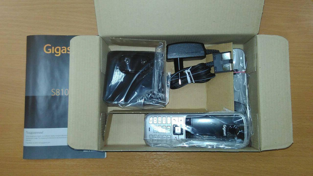Телефон Gigaset s810H что входит в поставку, что в коробке