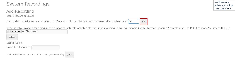 Запись голосового приветствия на телефоне в Elastix 4