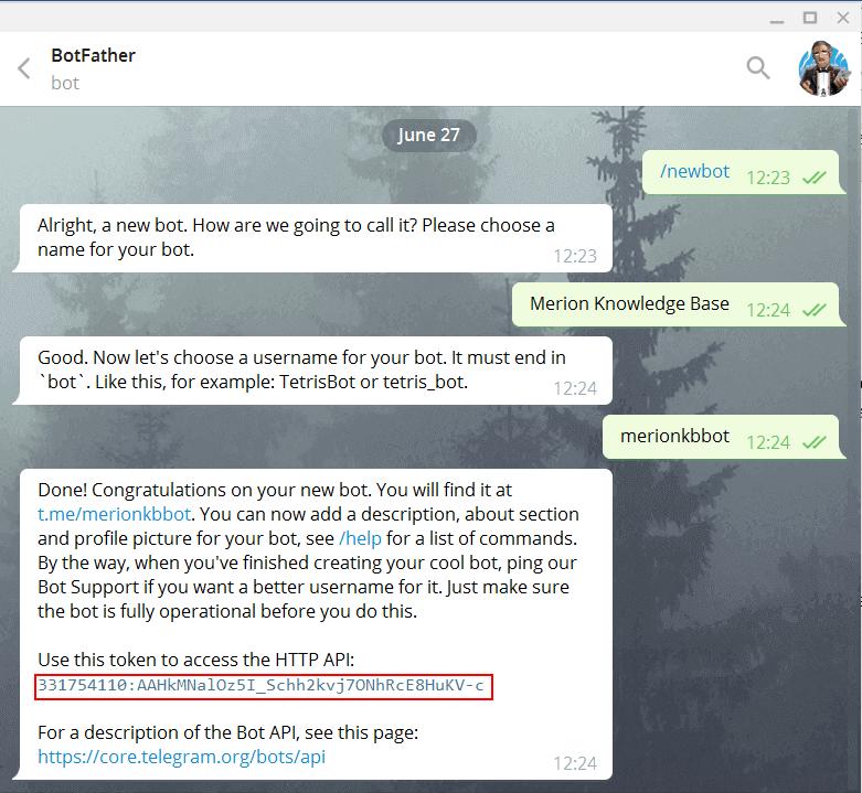 Создание бота в Telegram для Asterisk
