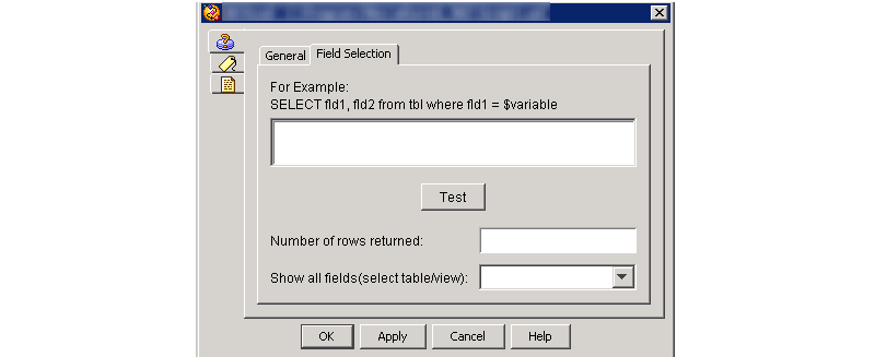 CCX Editor DB Read Field Selection