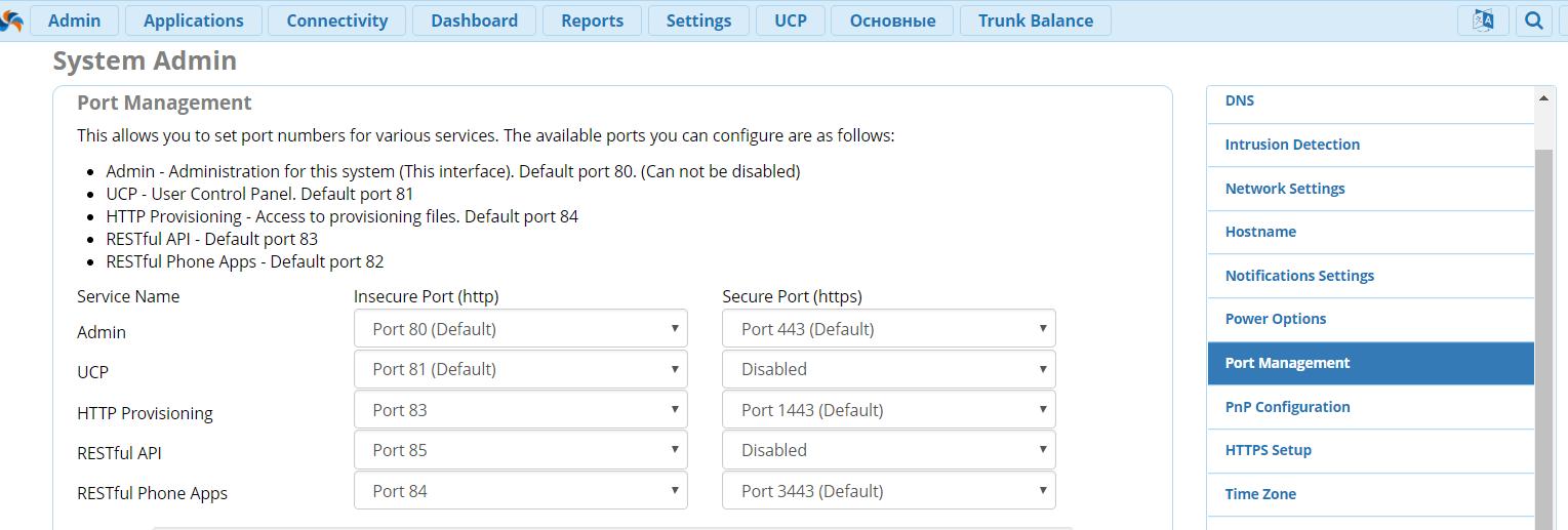Какие порты открыть для Asterisk/FreePBX?