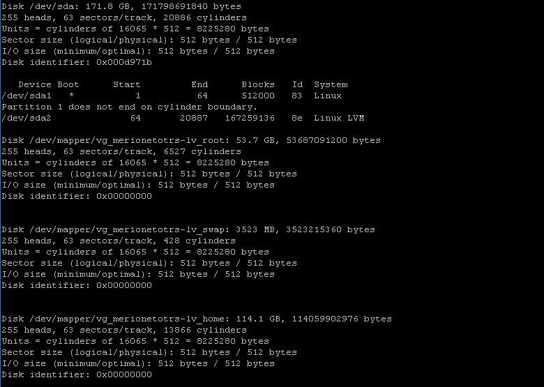 Вывод информации о носителях Linux