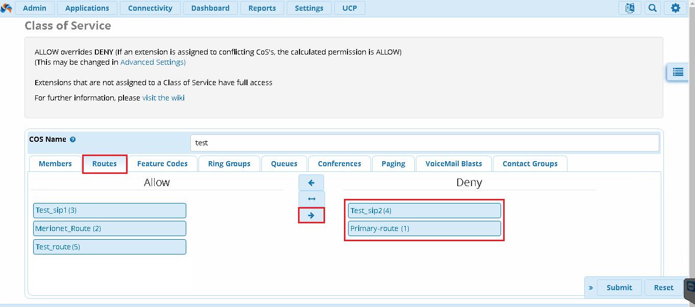 Разрешить звонки для номеров в FreePBX