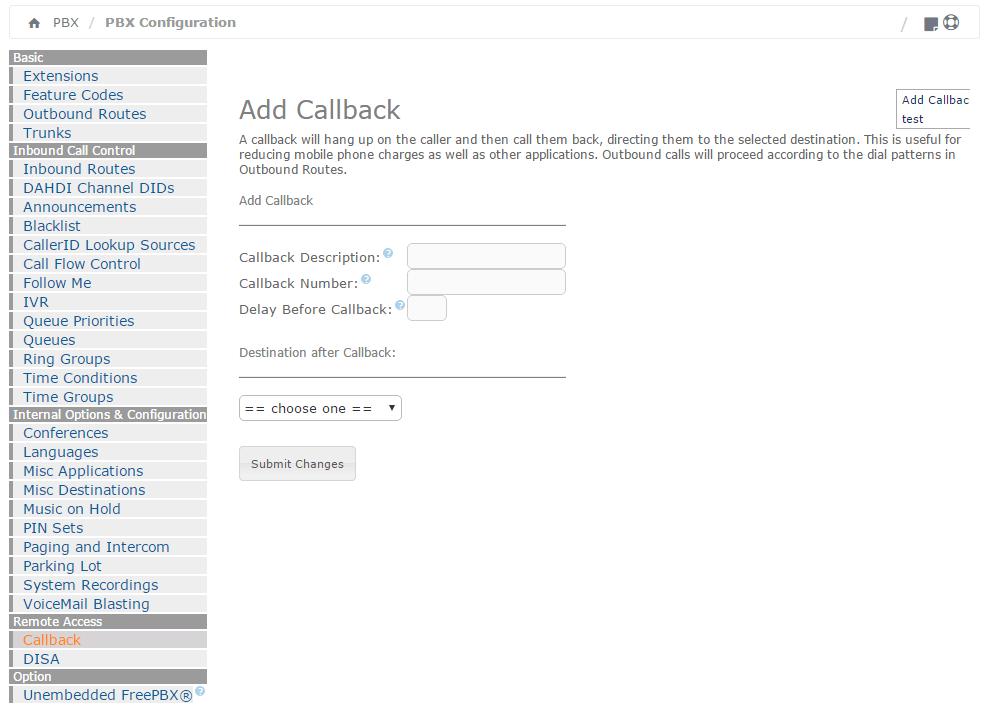 Модуль Callback в Elastix 4