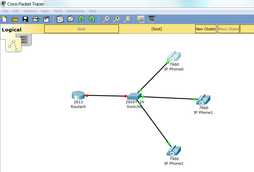Линк поднят в Cisco Packet Tracer