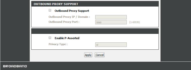 D-Link DVG-7111S настроить SIP - сервер