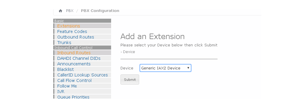 Создание экстеншена IAX в Elastix 4
