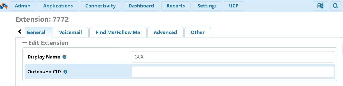 Внутренний номер для 3CX Phone в FreePBX 13