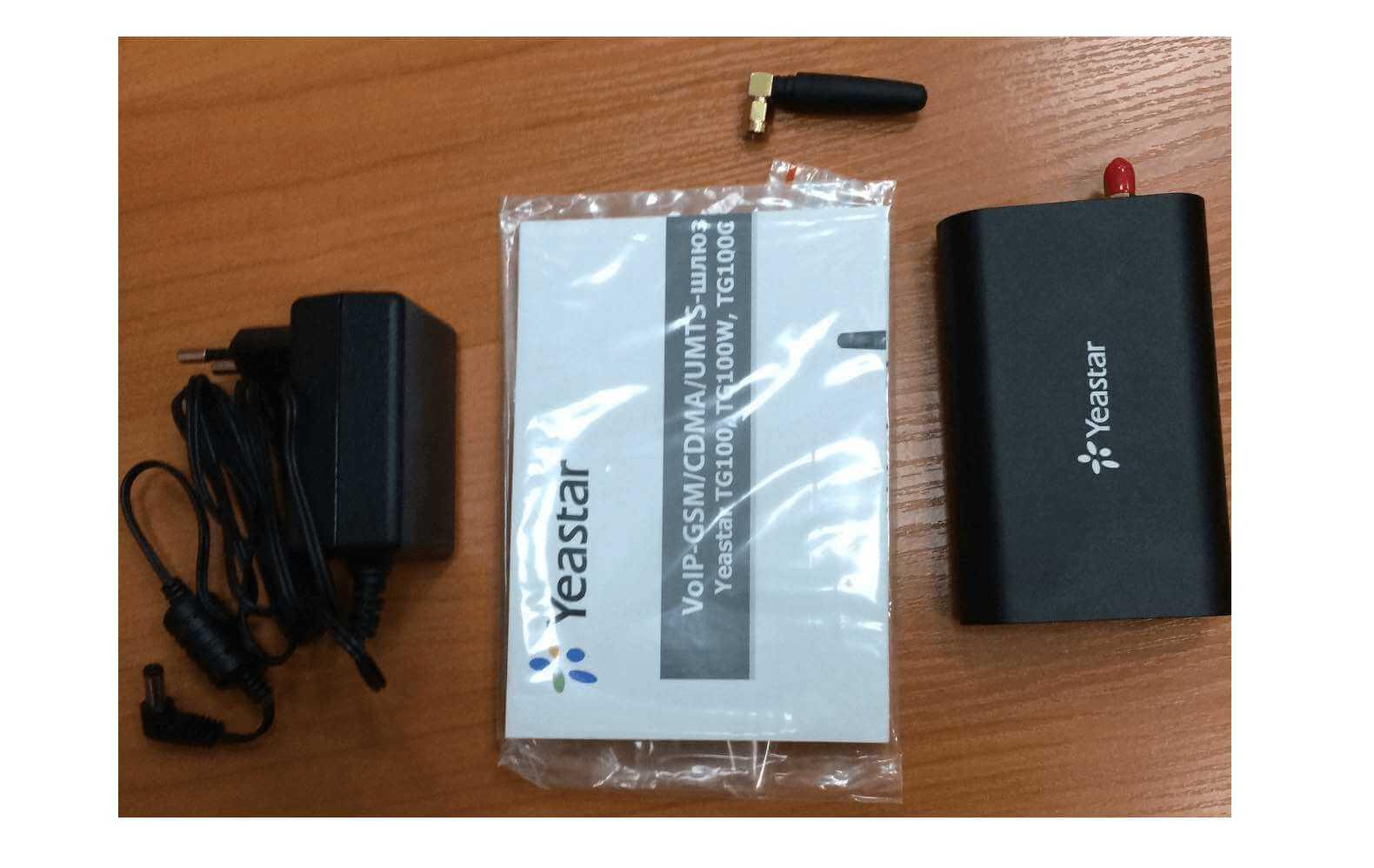 Комплектация VoIP UMTS – шлюза Yeastar TG100W