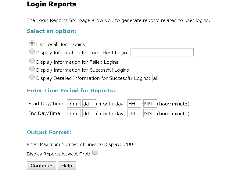 Avaya Communication Manager  – Login Report