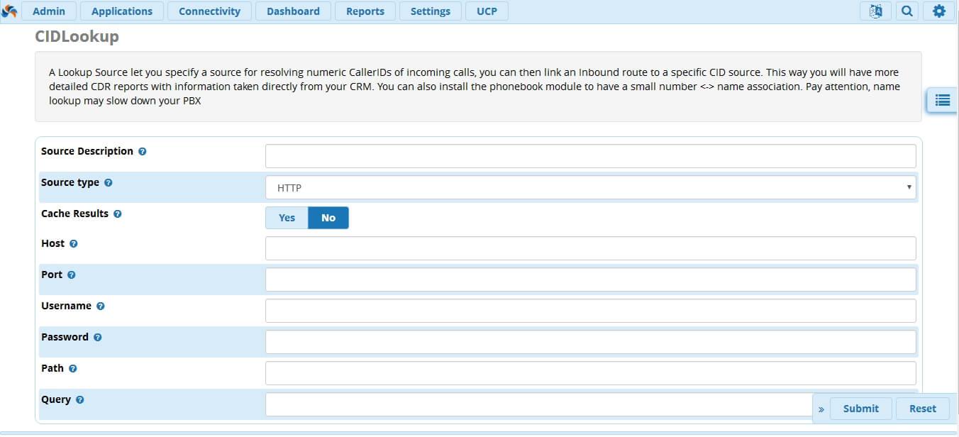 Обзор модуля CIDLookup в FreePBX 13