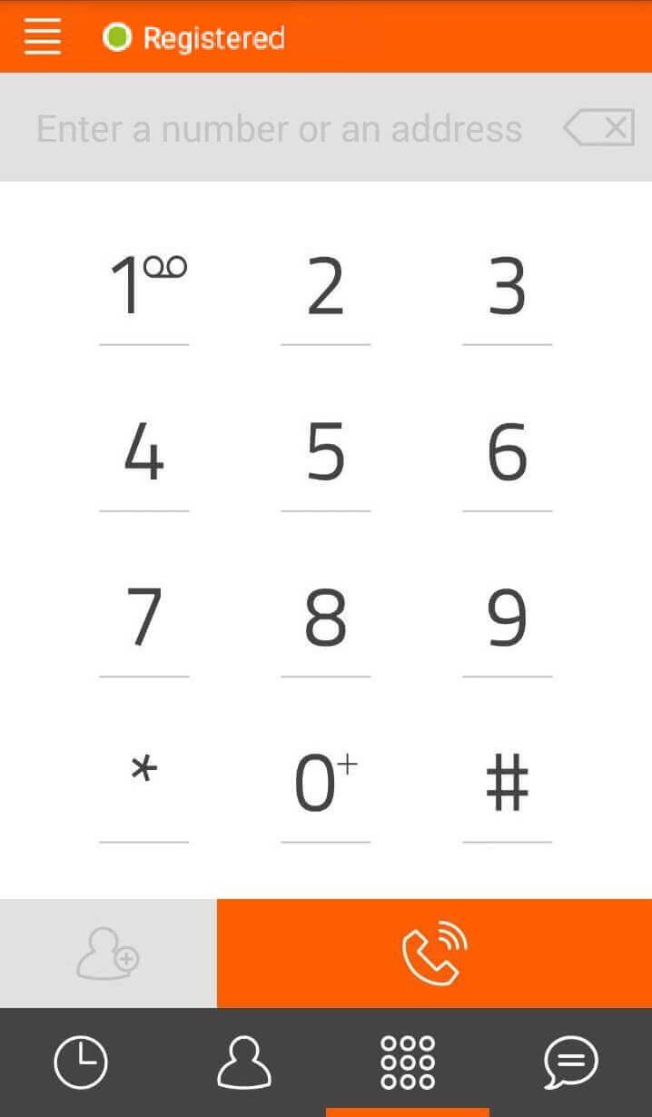 Настройка софтфона на мобильный телефон