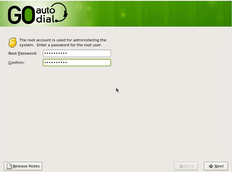 Установка пароля для root пользователя в системе