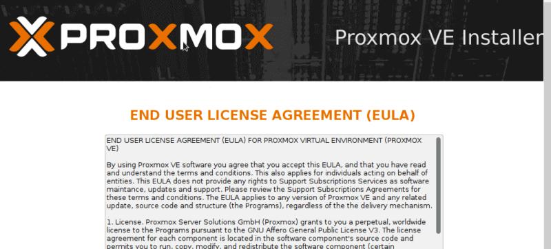 EULA в Proxmox VE