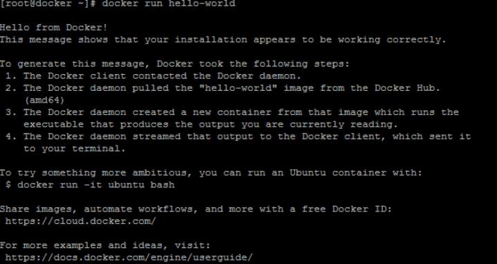 Проверка работоспособности Docker - шаг второй