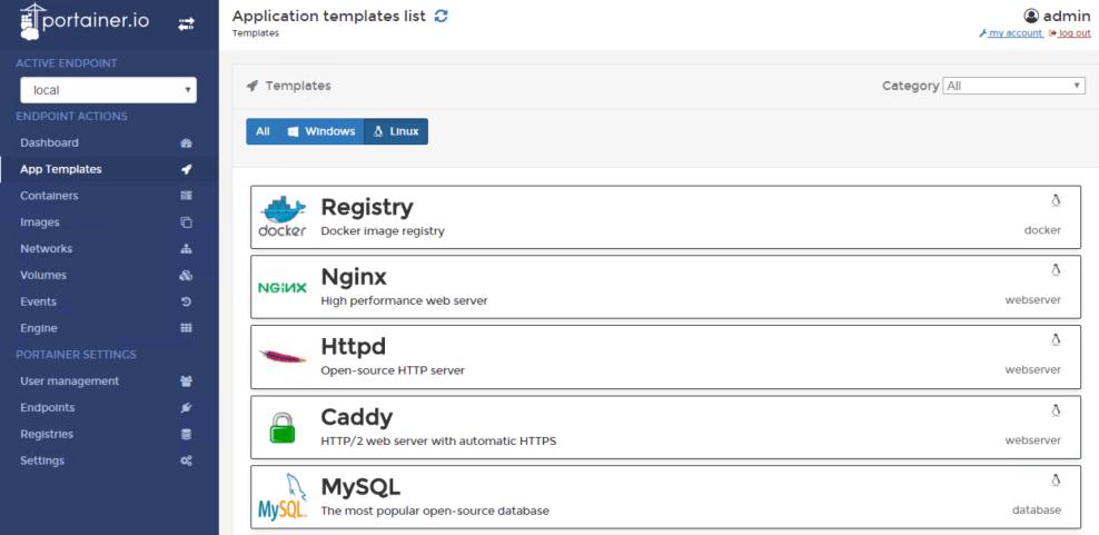 Выбор приложения для запуска на платформе Docker