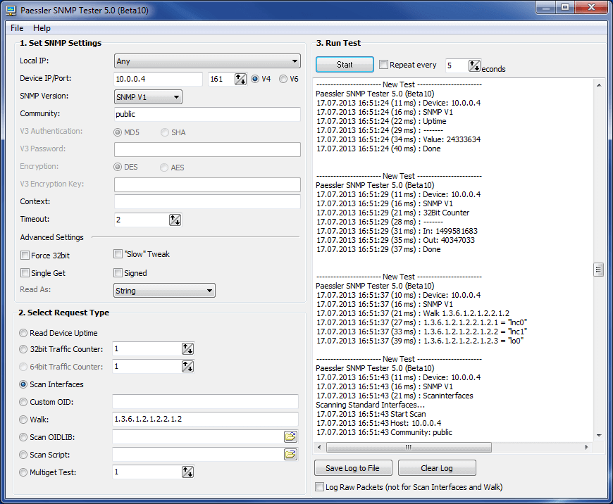 Paessler SNMP Tester