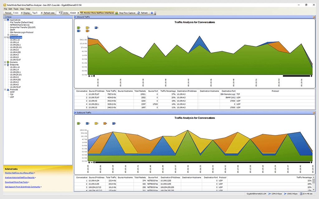 Real-Time NetFlow Analyzer