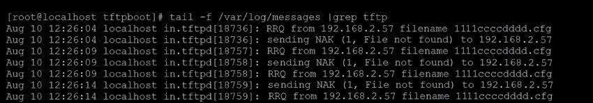 Сообщения TFTP