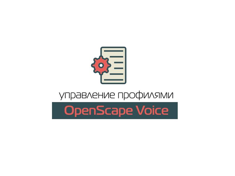 Управление профилями в OpenScape Voice