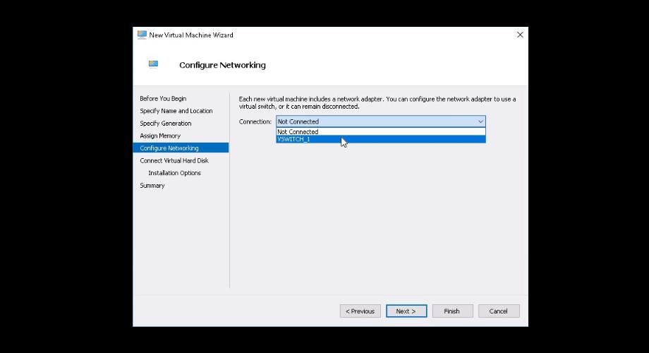 Создание виртуальной машины Hyper-V для CentOS 7