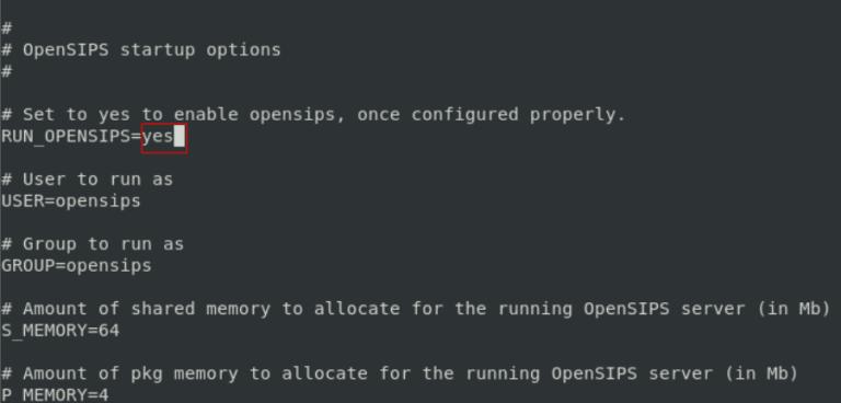 nano /etc/default/opensips