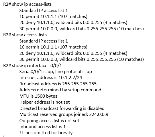show access-lists